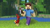 LEGO Minecraft 21148 BigFig Steve met papegaai-Afbeelding 1