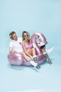 Swim Essentials luchtmatras voor 1 persoon flamingo-Afbeelding 2