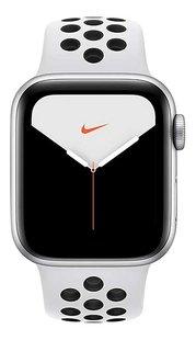 Apple Watch Series 5 44 mm aluminium argent/Platine pur/Noir-Avant