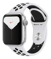 Apple Watch Series 5 40 mm aluminium argent/Platine pur/Noir-Côté droit