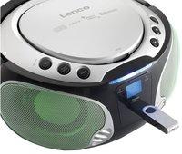 Lenco radio/lecteur CD portable SCD 550 argenté-Image 2