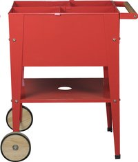Table de culture Wheels rouge 60 x 60 cm-Avant