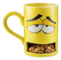Mok monster koekje geel-Vooraanzicht