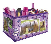 Ravensburger 3D-puzzel Girly Girl opbergdoos paarden-Vooraanzicht