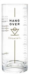 Glas Hangover cocktail-commercieel beeld
