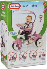 Little Tikes driewieler 4-in-1 roze-Vooraanzicht