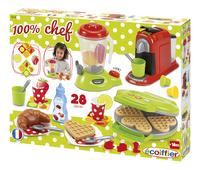 Écoiffier set de jeu 100% Chef appareils de cuisine 28 pièces-Côté droit
