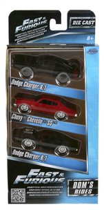 Voiture Fast & Furious 3 pack Dom's Rides