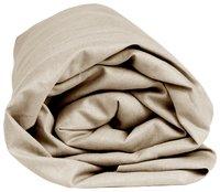 Sleepnight Drap-housse hauteur des coins 30 cm café au lait en jersey de coton 180 x 200 cm-Détail de l'article