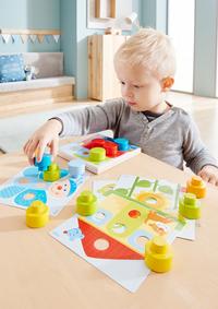 HABA jeu à enficher Monde multicolore-Image 1