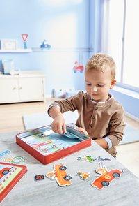 HABA Boîte de jeu magnétique Petits Bolides-Image 1