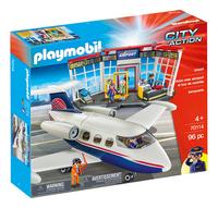 PLAYMOBIL City Action 70114 Avion avec aéroport et tour de contrôle-Côté gauche