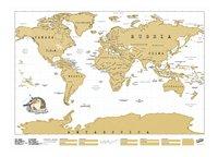Scratch Map wereldkaart-Vooraanzicht