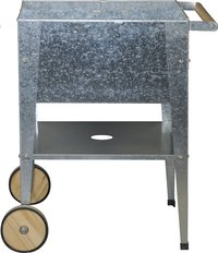 Kweektafel Wheels zilver 60 x 60 cm
