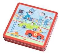 HABA Boîte de jeu magnétique Petits Bolides-Côté droit