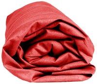 Sleepnight Drap-housse hauteur des coins 25 cm rouge en coton 180 x 200 cm-Détail de l'article