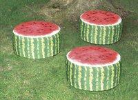 Pouf de jardin gonflable Pastèque-Image 1