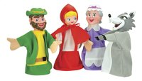 Set van 4 poppenkastpoppen Roodkapje-Vooraanzicht