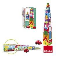 Goula houten stapelblokken Auto-commercieel beeld