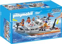Playmobil City Action 5540 Brand-reddingsboot-Vooraanzicht