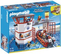 Playmobil City Action 5539 Kustwachtcentrale met vuurtoren-Vooraanzicht