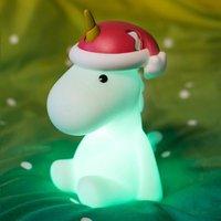 Nachtlampje Unicorn met kerstmuts X-mas-Afbeelding 1