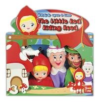 Set van 4 poppenkastpoppen Roodkapje