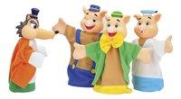 Set de 4 marionnettes Les Trois Petits Cochons-Avant