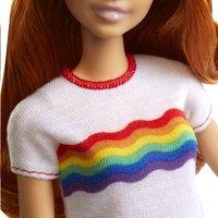 Barbie poupée mannequin  Fashionistas Original 122 - Rainbow shirt-Détail de l'article