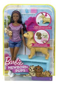 Barbie set de jeu Chien avec ses chiots brun-Avant