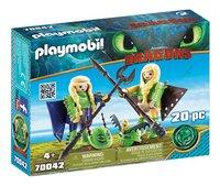 PLAYMOBIL Dragons 70042 Kranedur et Kognedur en combinaison de vol-Côté gauche