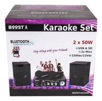 Boost karaoké avec 2 micros avec USB/Bluetooth/SD