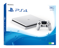 Sony PS4 Slim console 500 GB wit-Linkerzijde