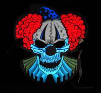 Goodmark masque Creepy Clown Sound Reactive-commercieel beeld