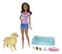 Barbie speelset Hond met puppy's bruin-commercieel beeld