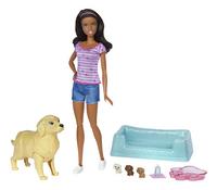 Barbie set de jeu Chien avec ses chiots brun-commercieel beeld
