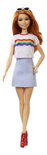 Barbie poupée mannequin  Fashionistas Original 122 - Rainbow shirt-Avant