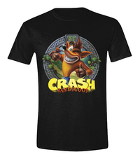 T-shirt Crash Bandicoot noir L