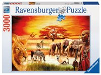 Ravensburger puzzel Troste Masai-Vooraanzicht