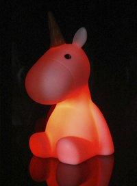 Nachtlampje Unicorn wit-Afbeelding 1