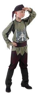 Verkleedpak piraat met skelet op buik