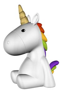 Nachtlampje Unicorn wit-commercieel beeld