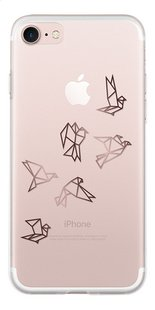bigben cover Origami Birds iPhone 7 transparant/pink