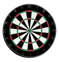 QX Max dartbord Flocked Home - van Gerwen-Vooraanzicht