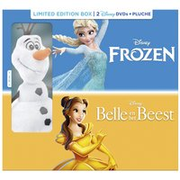 Dvd Frozen + dvd Belle en het Beest + knuffel Olaf NL