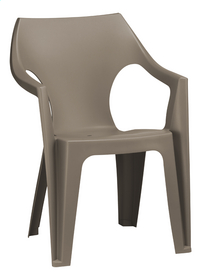 Allibert chaise de jardin Dante - dossier bas cappuccino-Avant