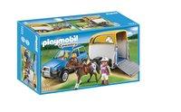 Playmobil Country 5223 Voiture avec remorque et cheval
