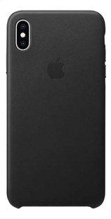 Apple coque en cuir pour iPhone Xs Max noir-Arrière