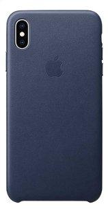 Apple coque en cuir pour iPhone Xs Max Midnight Blue-Arrière