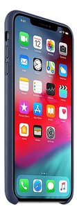 Apple coque en cuir pour iPhone Xs Max Midnight Blue-Côté gauche